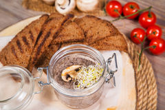 Mushroom Mousse With Toast Stock Photography