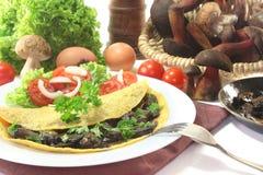 Mushroom omelet Stock Photography