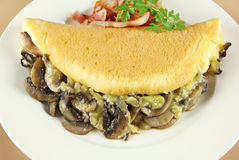 Mushroom Omelette Royalty Free Stock Photography