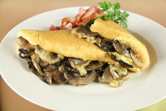 Mushroom Omelette Royalty Free Stock Image