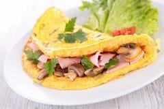 Mushroom omelette. Close up on mushroom omelette Stock Image