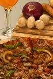Mushroom and Onion Pizza Royalty Free Stock Photos