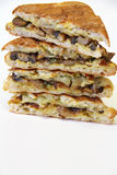 Mushroom panini stack vertical Royalty Free Stock Photography