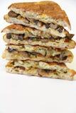 Mushroom panini stack vertical Royalty Free Stock Photography