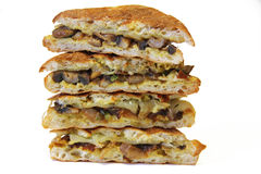 Mushroom panini stacked Royalty Free Stock Photo