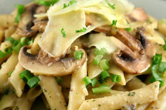 Mushroom Pasta 2 Stock Images