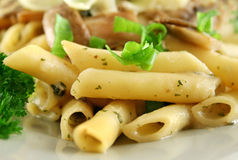 Mushroom Pasta Royalty Free Stock Images