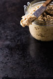 Mushroom pate in a jar Stock Photography