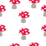 Mushroom pattern Royalty Free Stock Images