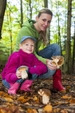 Mushroom picking Royalty Free Stock Image