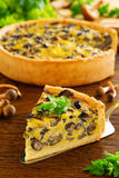 Mushroom pie with cheese Royalty Free Stock Images