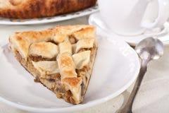Mushroom pie and coffee Stock Images