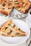 Mushroom pie and coffee Stock Image