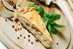 Mushroom pie. food Royalty Free Stock Images