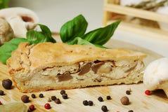 Mushroom pie. food Stock Images