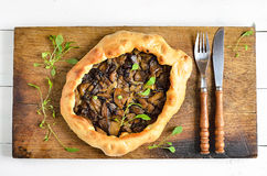 Mushroom pie Royalty Free Stock Photo
