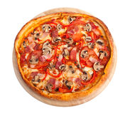 Mushroom pizza Stock Images