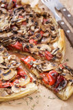 Mushroom pizza closeup Royalty Free Stock Photos