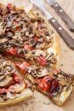 Mushroom pizza closeup Royalty Free Stock Photography
