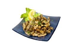 Mushroom plate Stock Photos