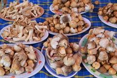 Mushroom on plate for sale Stock Photos