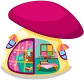 Mushroom playhouse. Illustration of isolated mushroom playhouse on white Royalty Free Stock Photography
