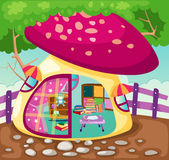 Mushroom playhouse. Illustration of landscape mushroom playhouse Stock Photos