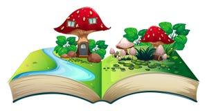 Mushroom popup book Stock Image