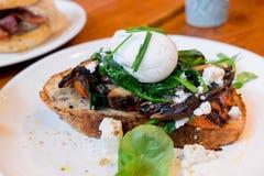 Mushroom and portobello sandwich Royalty Free Stock Image