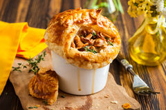 Mushroom Pot Pie Stock Photos