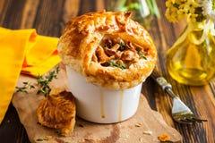 Mushroom Pot Pie Stock Photos
