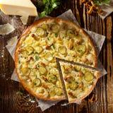 Mushroom and Potato Pizza Royalty Free Stock Image