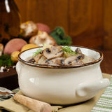 Mushroom Potato Soup Stock Photos