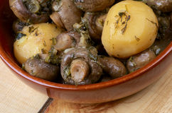 Mushroom and Potato Stew Royalty Free Stock Images