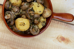 Mushroom and Potato Stew Royalty Free Stock Photo