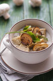 Mushroom pottage Stock Photos