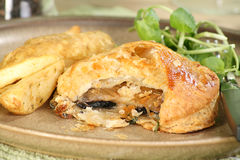 Mushroom in puff pastry Stock Photos