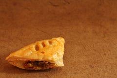 Mushroom puff pastry vegetarian food for breakfast. Royalty Free Stock Image