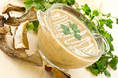 Mushroom puree soup Royalty Free Stock Photos