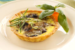 Mushroom Quiche Royalty Free Stock Image
