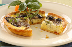 Mushroom Quiche Royalty Free Stock Photos