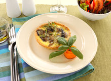 Mushroom Quiche Royalty Free Stock Photo