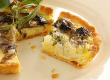 Mushroom Quiche Slice Royalty Free Stock Image