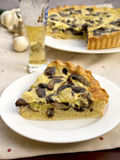 Mushroom quiche. Slice of home made quiche with mushrooms Royalty Free Stock Images