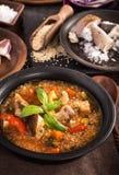 Mushroom quinoa soup Royalty Free Stock Photo