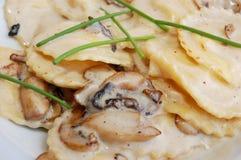 Mushroom ravioli Royalty Free Stock Image