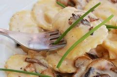 Mushroom ravioli Stock Images