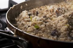 Mushroom risotto Royalty Free Stock Image