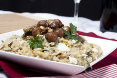 Mushroom Risotto Stock Photography