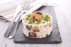 Mushroom risotto Stock Photography